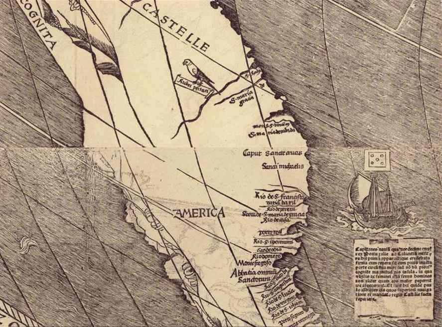 Kartenausschnitt Amerika