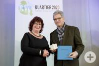 Preisübergabe Staatssekretärin Mielich mit Bürgermeister Czybulka